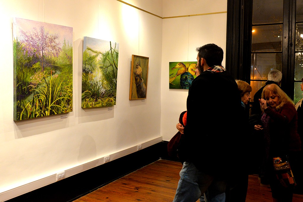 Grandes referentes de la Sociedad Sanfernandina para el Arte exponen en la Quinta El Ombú