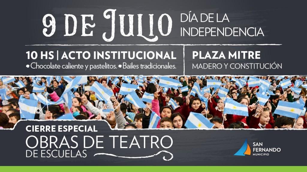 San Fernando celebrará el Día de la Independencia