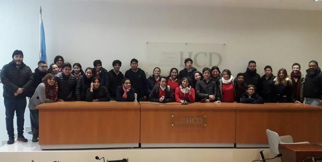 Estudiantes del colegio Comunidad Cristiana visitaron el Concejo Deliberante de San Fernando