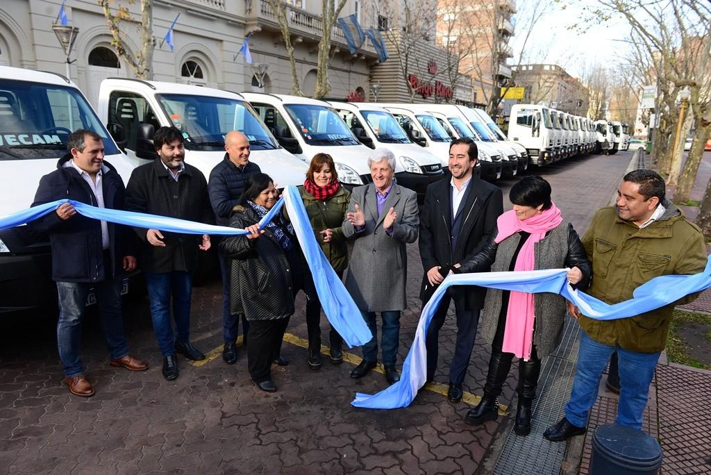 Andreotti sumó 26 nuevos camiones a la flota del Municipio