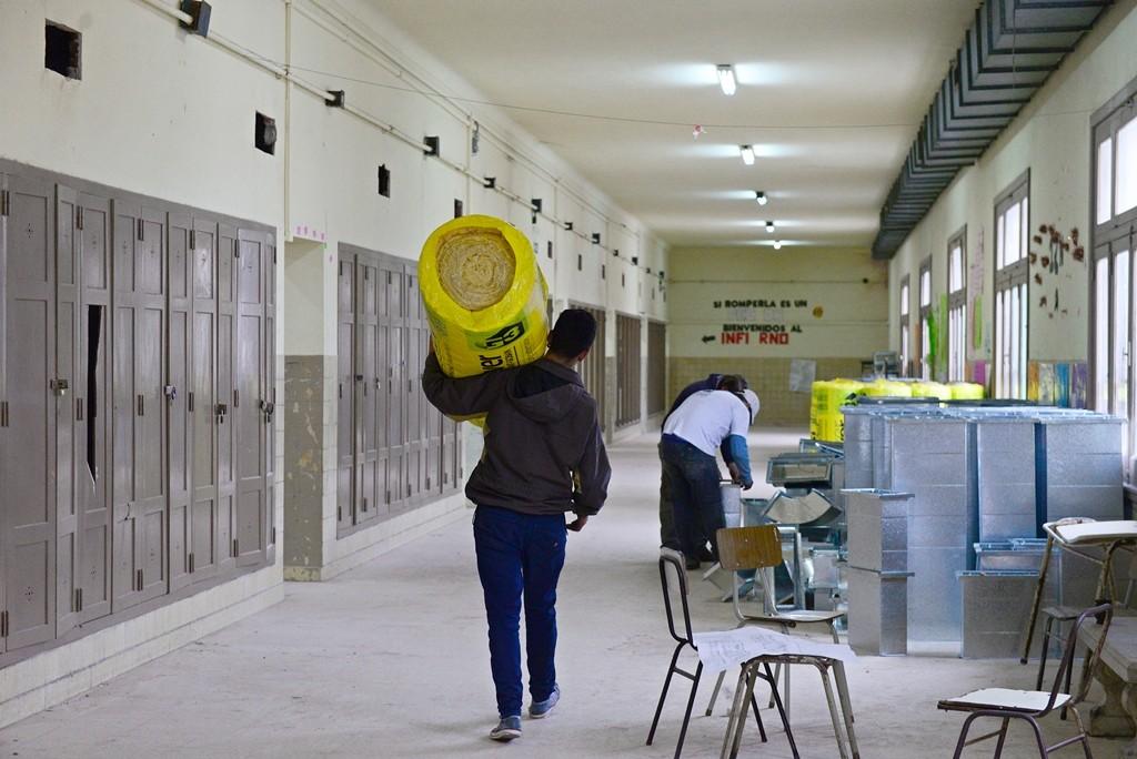 San Fernando renueva el sistema de calefacción de la Escuela Normal 'Artigas'