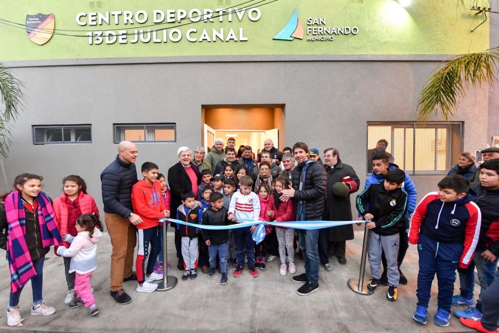 Andreotti inauguró el renovado Club 13 de Julio