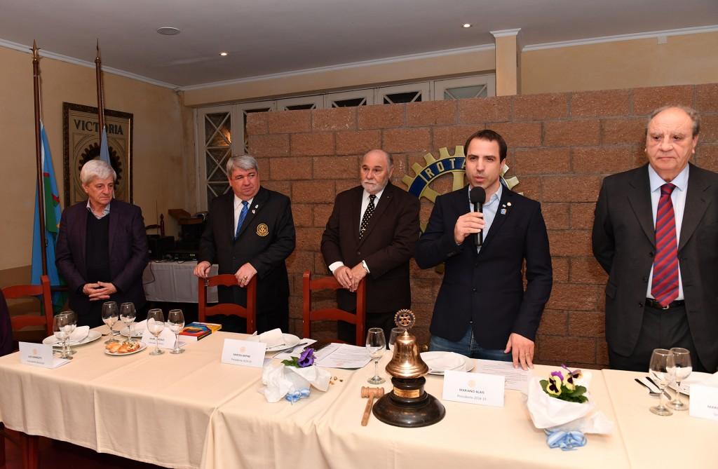 San Fernando presente en la renovación de autoridades en el Rotary Club de Victoria