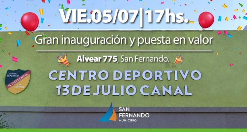 Este viernes, San Fernando inaugura el renovado Club 13 de julio