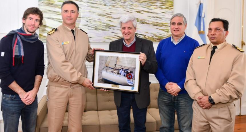 Andreotti recibió un reconocimiento de la Prefectura Naval Argentina