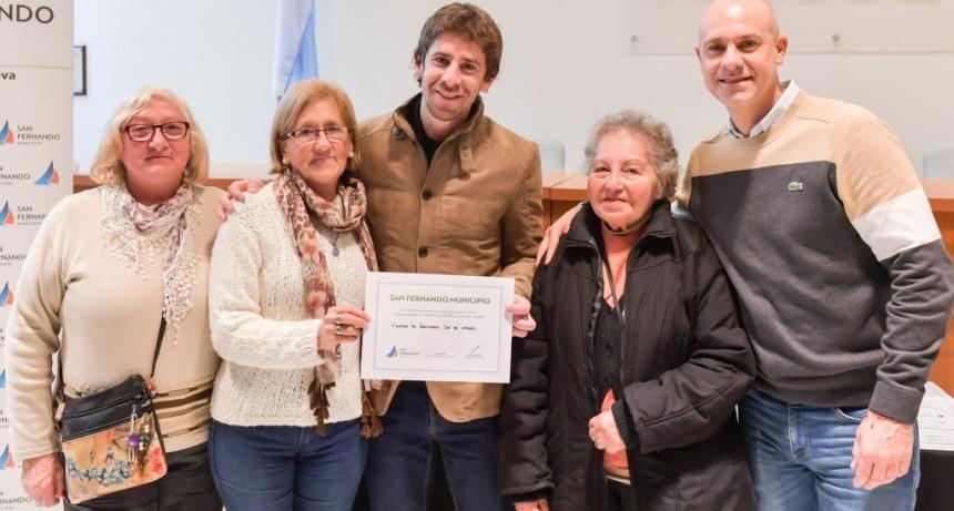 Juan Andreotti otorgó nuevas ayudas económicas a centros de jubilados de San Fernando