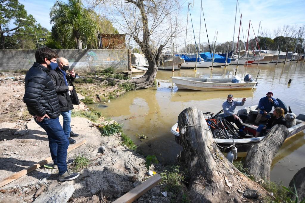 Juan Andreotti supervisó la obra de un nuevo Muelle Público Municipal para vecinos isleños