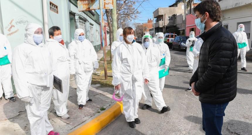 Juan Andreotti acompañó los operativos de detección de coronavirus en barrios de San Fernando