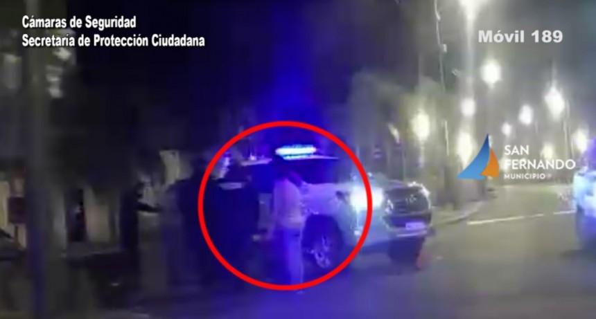 San Fernando: las Cámaras permitieron detener a una pareja que robó una TV de un domicilio