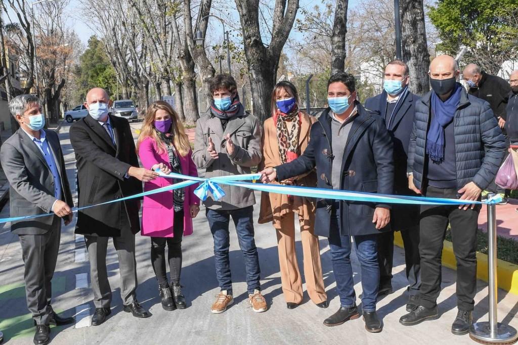 Juan Andreotti y Alexis Guerrera inauguraron el nuevo Paseo ´Ministro Mario Meoni