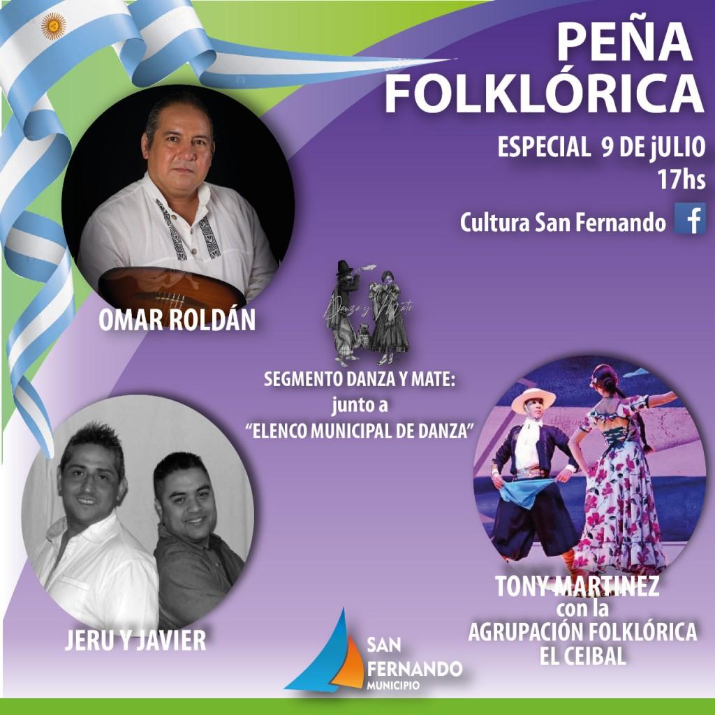 En el Día de la Independencia, San Fernando realizará una Peña Folklórica Virtual desde el Teatro Martinelli