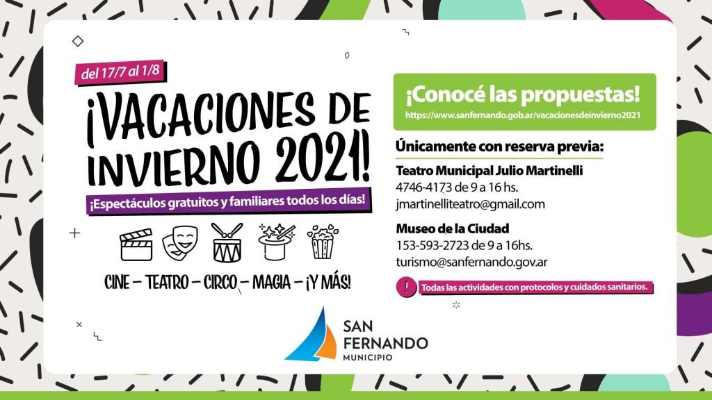 San Fernando presenta sus espectáculos infantiles de Vacaciones de Invierno con protocolos