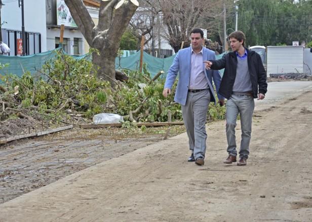 San Fernando: Nuevo Boulevard sobre la calle Carlos Casares