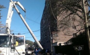 Tareas de mantenimiento en la red eléctrica de Don Torcuato