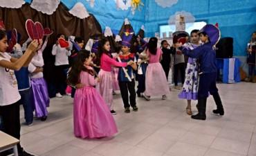 Se realizó en el CEIM N° 4 un acto en homenaje al Libertador José de San Martín