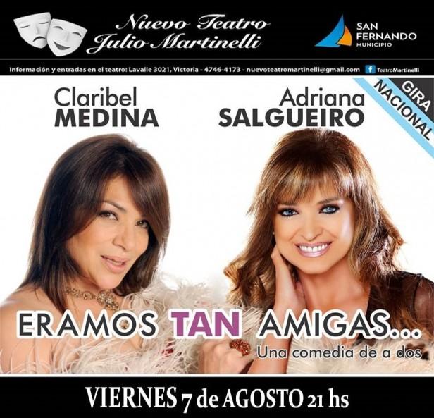 Claribel Medina y Adriana Salgueiro se presentarán en San Fernando