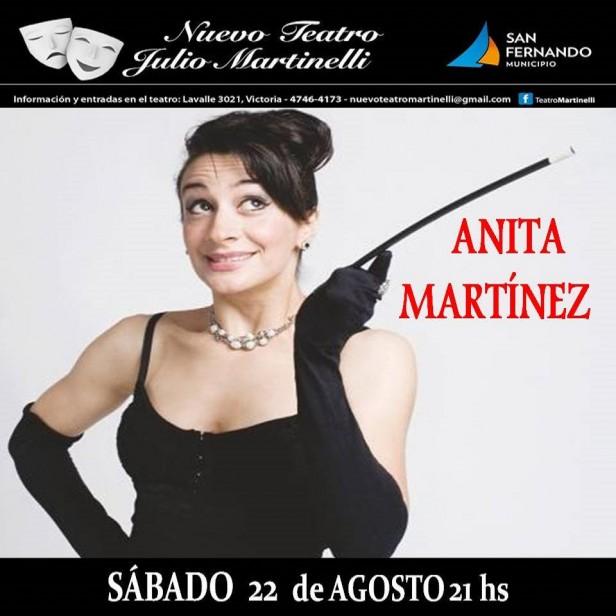 Anita Martínez presenta su unipersonal en San Fernando