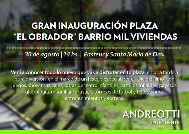 """San Fernando inaugura la plaza """"El Obrador"""" del barrio Mil Viviendas en una tarde a pura diversión"""