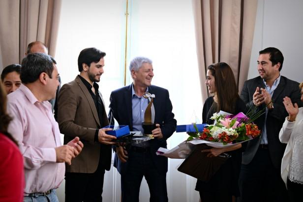 Luis Andreotti recibió a los sanfernandinos campeones mundiales de Tango