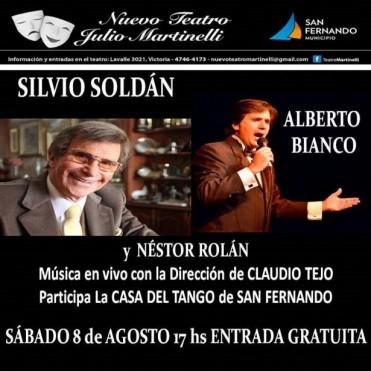 Silvio Soldán gratis en el Teatro Martinelli de San Fernando