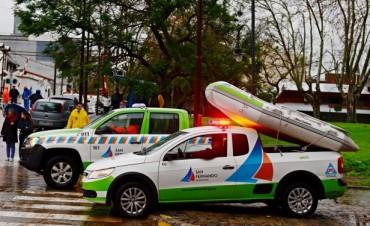 San Fernando desplegó un importante operativo de prevención ante la sudestada