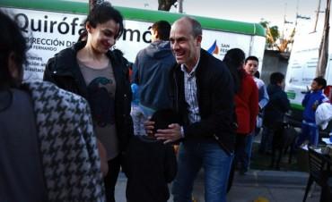Anita Martínez visitó un operativo de zoonosis y un comedor de San Fernando