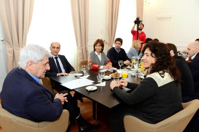 Luis Andreotti sostuvo una reunión de trabajo con Zulma Ortíz
