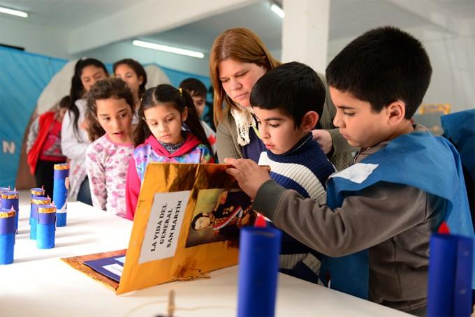 Los CEIM de San Fernando recordaron a San Martín con una exposición