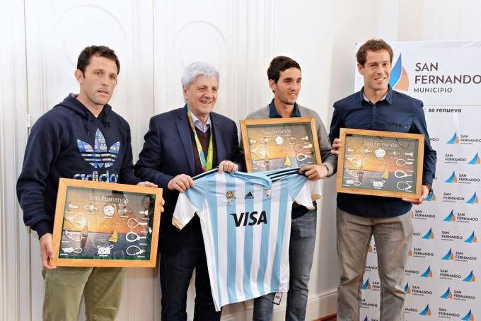 San Fernando reconoció a 'Los Leones', medallistas dorados en los Juegos Olímpicos