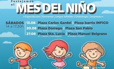 """El Municipio festejará el """"Mes del Niño"""" en las plazas de San Fernando"""