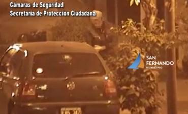 San Fernando: intentó robar auto estacionado, pero fue detenido gracias a las Cámaras de Seguridad
