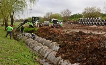 San Fernando entuba un arroyo y empezó a construir el Poli N°9