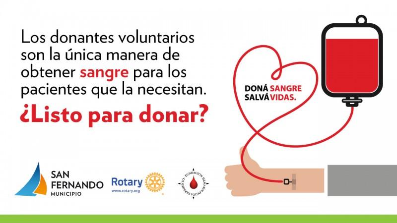 San Fernando realizará una jornada de concientización para la donación de sangre