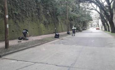 El Municipio realizó tareas de limpieza urbana en Punta Chica