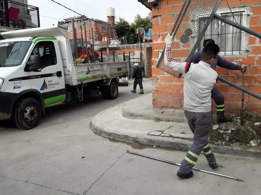 San Fernando continúa con las tareas de limpieza y embellecimiento en los barrios