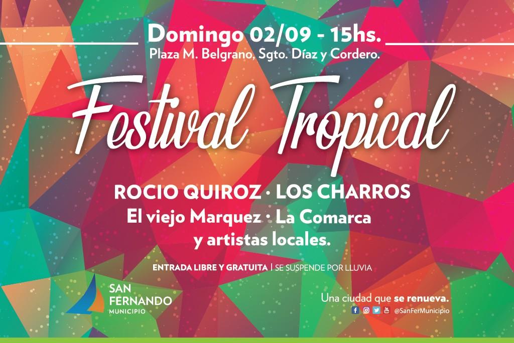 Vuelven la música popular y el color con una nueva edición del Festival Tropical de San Fernando