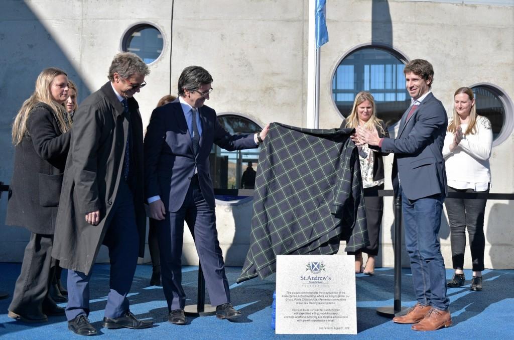 Juan Andreotti participó de la inauguración del Jardín de Infantes Campus San Andrés