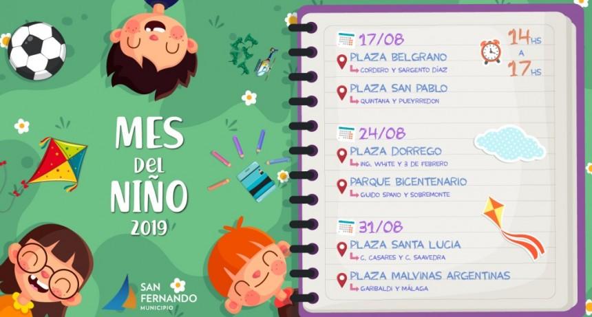 En agosto, las plazas de San Fernando festejan el 'Mes del Niño'
