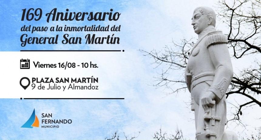 San Fernando conmemorará el aniversario 169° del paso a la inmortalidad del General San Martín