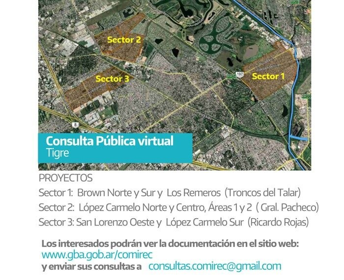 Se realizará la Consulta Pública Virtual para obras cloacales en Tigre