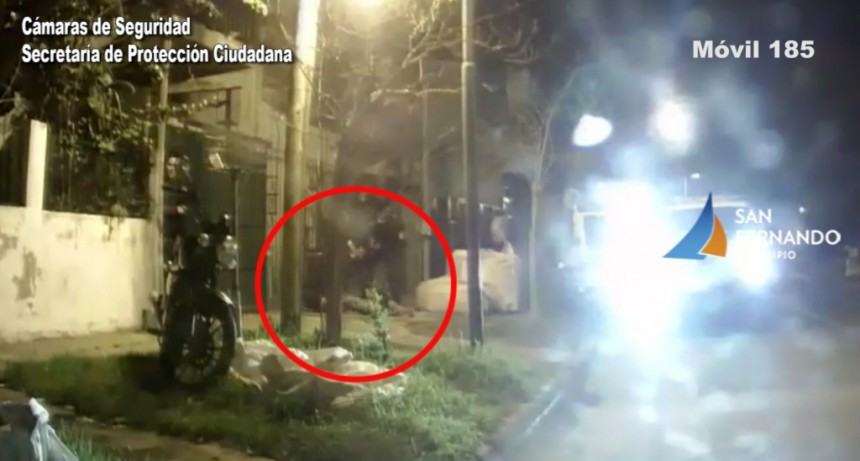 Las Cámaras de San Fernando permitieron detener a un delincuente que robó una moto