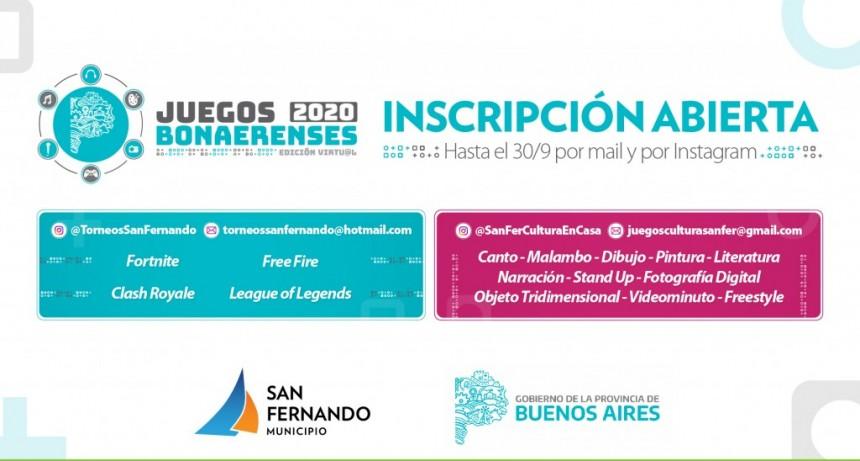 San Fernando participará en disciplinas culturales de la edición virtual de los Juegos Bonaerenses 2020
