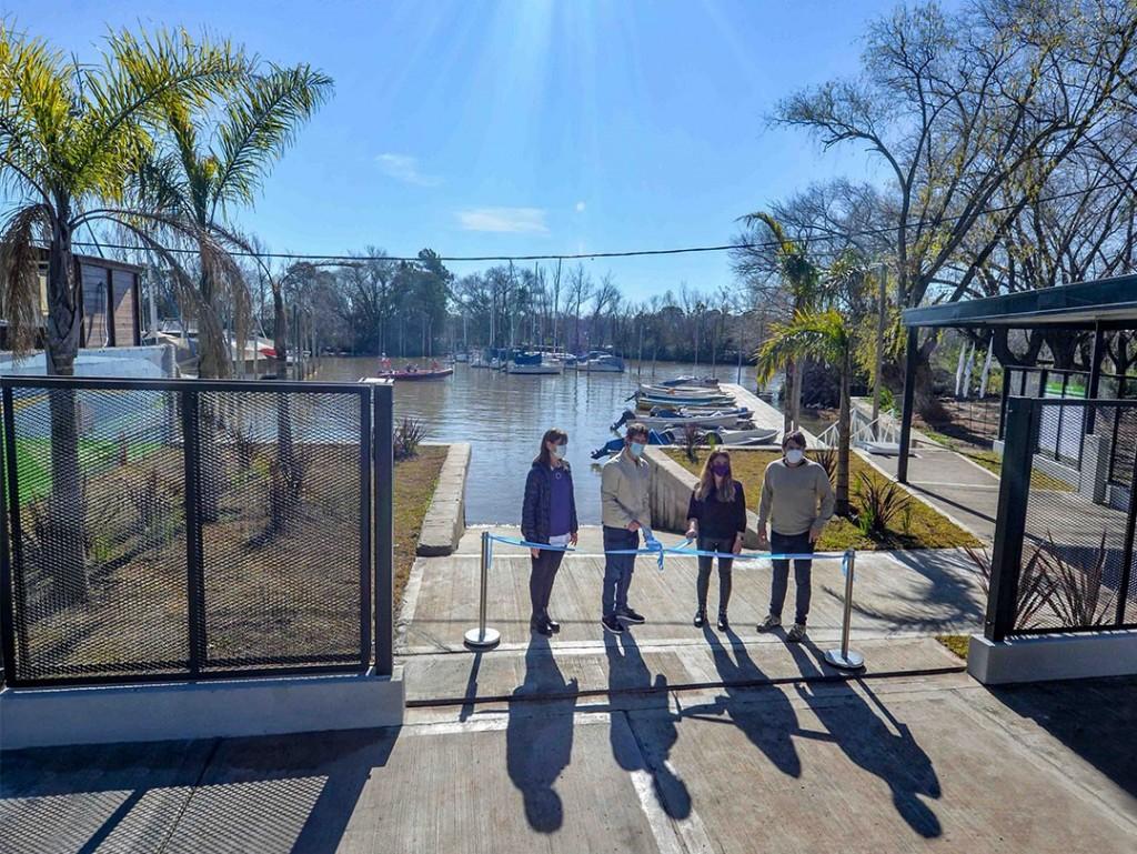 Juan Andreotti inauguró el nuevo Muelle Público para vecinos isleños