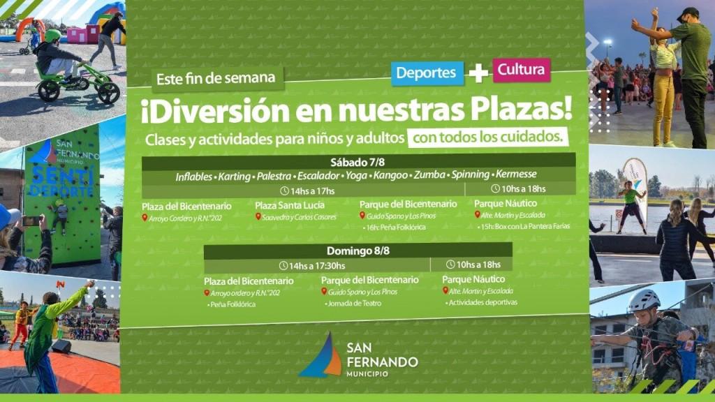 Este fin de semana, San Fernando ofrece diversas actividades deportivas y culturales en sus plazas