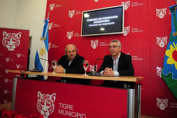 Julio Zamora recibió al ministro de Seguridad bonaerense