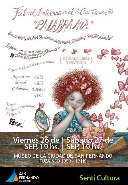 """San Fernando, sede del Festival Internacional de Cuentacuentos """"Palabra Mía"""""""