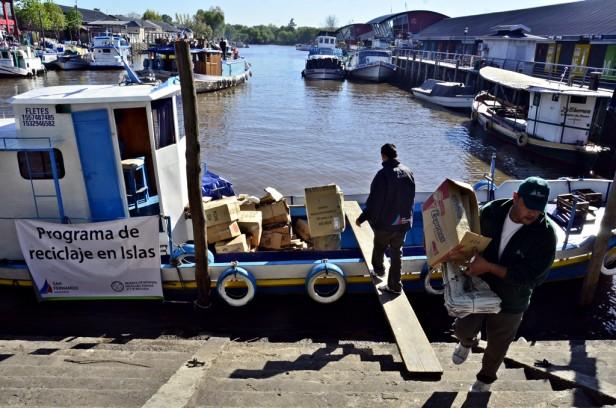 Se concretó el 3° viaje del Programa de Reciclaje Municipal en el Delta sanfernandino