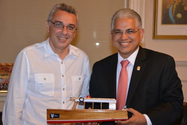 Julio Zamora recibió al Alcalde de la ciudad de Panamá