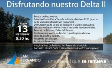 """El Municipio organiza nuevamente el paseo turístico """"Disfrutando nuestro Delta"""""""