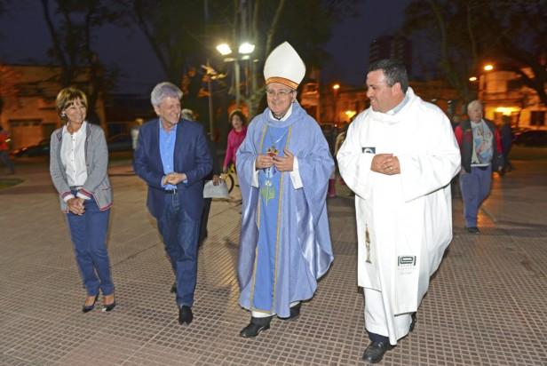 Luis Andreotti compartió la fiesta patronal de Nuestra Señora de La Guardia